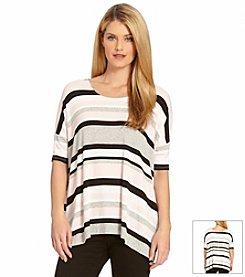 Karen Kane® Striped Slit-Side Tunic