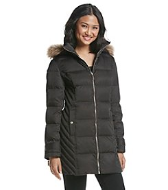 Kenneth Cole® New York Chevron Side Down Coat
