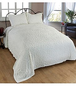 Beatrice Home Fashions Wedding Ring Chenille Bedspread Collection