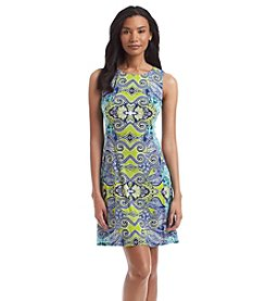 AGB® Paisley Print A-Line Tank Dress