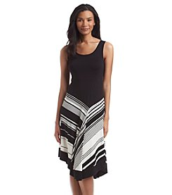 Spense® Uneven Striped Hem Dress