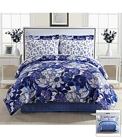 LivingQuarters Bright Floral 8-pc. Comforter Set