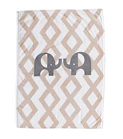 Lolli® Plush Printed Elephant Blanket