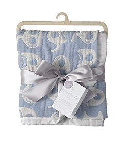 Living Textiles Baby® Muslin Jacquard Elephant Blanket