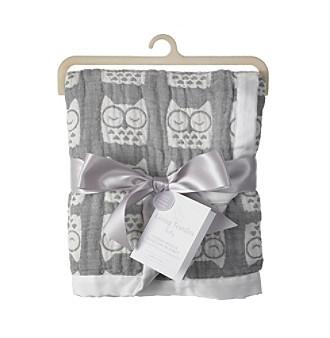 Living Textiles Baby® Muslin Jacquard Owl Blanket