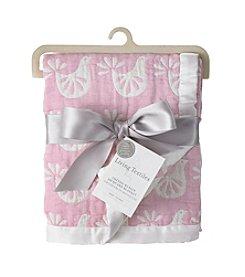 Living Textiles Baby® Muslin Jacquard Bird Blanket