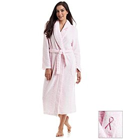 Jasmine Rose® Printed Fleece Robe