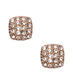 Givenchy® Rose Goldtone Silk Stud Earrings