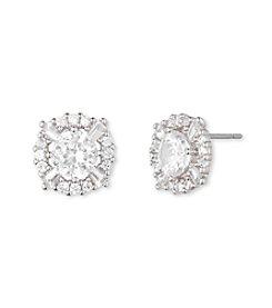 Anne Klein® Silvertone Crystal Stud Earrings