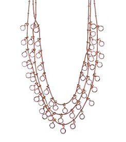 Anne Klein® Rose Goldtone Shaky Necklace