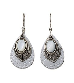 Silver Forest® Silvertone Mother Of Pearl Layered Earrings