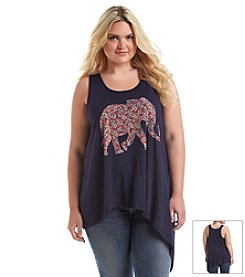 Living Doll® Plus Size Elephant Graphic Tank