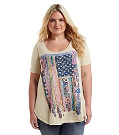 Living Doll® Plus Size Vintage Flag Tee