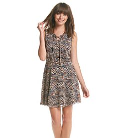 Be Bop Crochet Lace Up Dress