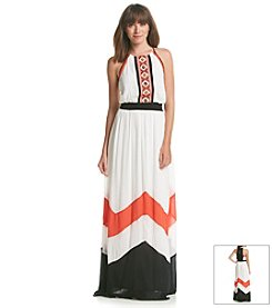 XOXO® Embroidered Maxi Dress