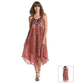 XOXO® Printed Lace Dress