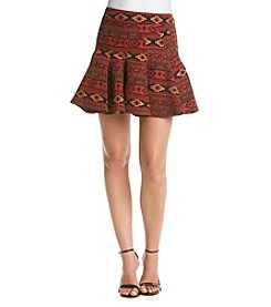 BCBGeneration™ Geo Print Pleated Skirt