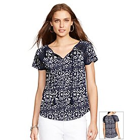 Lauren Ralph Lauren® Cotton Boho Top