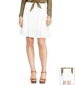 Lauren Ralph Lauren® Eyelet Cotton Skirt