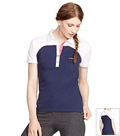Lauren Active® Color Blocked Short-Sleeve Knit Polo