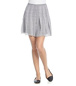 MICHAEL Michael Kors® Dot Print Pleat Skort