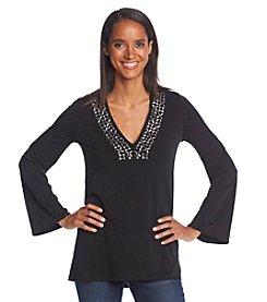MICHAEL Michael Kors® Embellished V-Neck Tunic