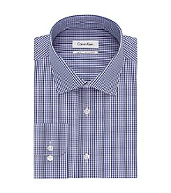 Calvin Klein Men's Regular Fit Check Button Down Dress Shirt