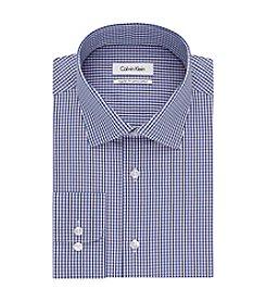 Calvin Klein Men's Regular Fit Check Button Down Dress Shirt