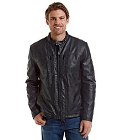 Kenneth Cole REACTION® Men's Faux Leather Sherpa Lined Jacket