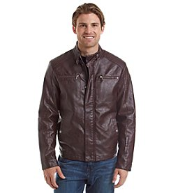 Kenneth Cole REACTION® Men's Faux Leather Moto Jacket