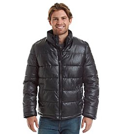Levi's® Men's Faux Leather Puffer Jacket