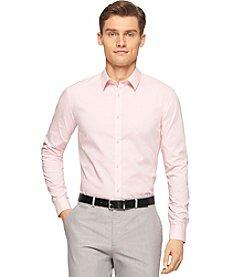 Calvin Klein Men's Slim Fit Micro Check Poplin Shirt