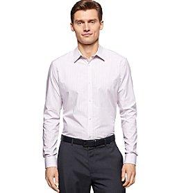 Calvin Klein Men's Classic Fit Engineered Stripe Liquid Cotton Shirt