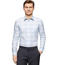 Calvin Klein Men's Classic Fit Refined Plaid Cotton Shirt
