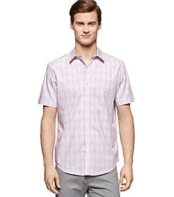 Calvin Klein Men's Check Plaid Button Down Shirt