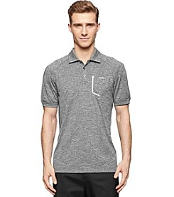 Calvin Klein Men's Short Sleeve Space Dye Stretch Polo