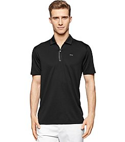 Calvin Klein Men's Short Sleeve Zip Mesh Polo