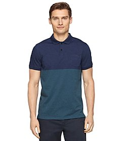 Calvin Klein Men's Short Sleeve Roadmap Color Block Polo