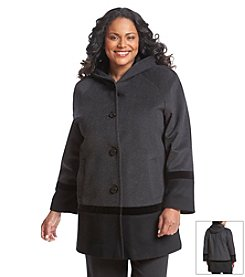 Forecaster Plus Size Colorblock Swing Coat