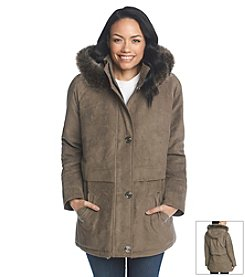 Forecaster Cham Sueded Coat With Faux Fur Hood