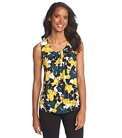 Anne Klein® Floral Pleatneck Top