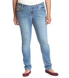 Earl Jean® Plus Size Bow Stud Bling Back Pocket Skinny Jean