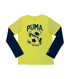 PUMA® Boys' 4-7 Layered Soccer Logo Top