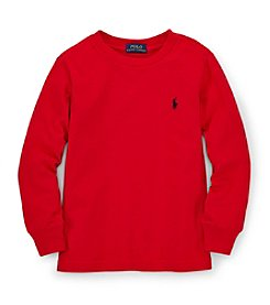 Ralph Lauren Childrenswear Boys' 2T-4T Long Sleeve Classic Tee