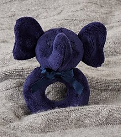 Ralph Lauren® Baby Boys Plush Elephant Rattle