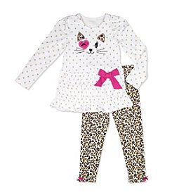 Nannette® Girls' 4-6X Kitty Tiered Leggings Set