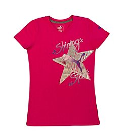 PUMA® Girls' 2T-4T Shining Star Tee