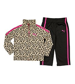PUMA® Girls' 2T-4T Animal Print Raglan Tricot Set