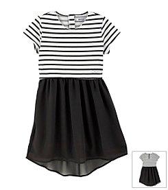 DKNY® Girls' 4-6X Striped Top Dress