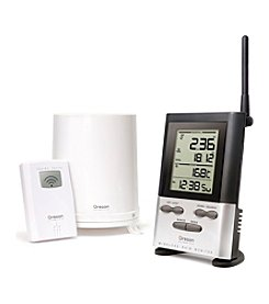 Oregon Scientific® Wireless Rain Gauge with Indoor/Outdoor Thermometer